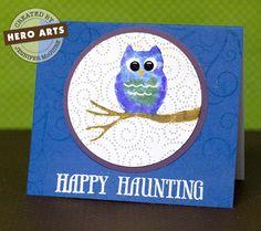 Hero Arts Cardmaking Idea: Haunting Owl