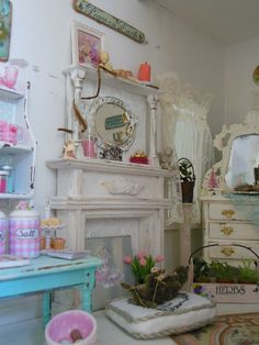 Several custom paintings from Cinderella Moments.  Very shabby chic! ~mandy wayman