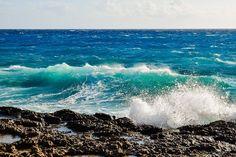 Rocky Coast, Waves, Crushing, Sea