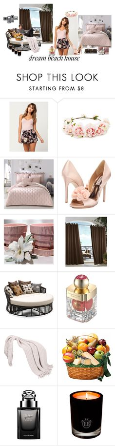 """""""Untitled #398"""" by amliw ❤ liked on Polyvore featuring Billabong, Forever 21, Badgley Mischka, Commonwealth Home Fashions, Thos. Baker, Shanghai Tang, Gucci and EB Florals"""