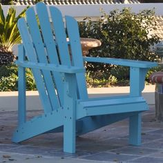 I pinned this Westport Adirondack Chair in Coastal Blue from the A Summer Afternoon event at Joss and Main!