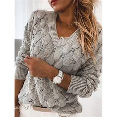LightInTheBox - Παγκόσμιες Online Αγορές για Φορέματα, Σπίτι & Κήπος, Ηλεκτρονικά Προϊόντα, Ένδυση Γάμου Casual Sweaters, Long Sweaters, Pullover Sweaters, Sweaters For Women, Sweaters Knitted, Fall Sweaters, Casual Tops, Cheap Sweaters, Comfy Casual