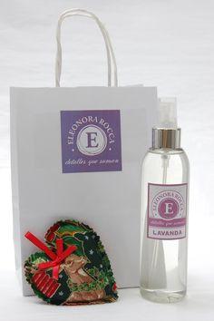 Mini Pack Navidad, corazon perfumado aroma lavanda y perfumador de 200 cc
