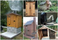 16 smokehouse ideas - saved for Bob - Smoking meats can be done in many ways. If you want to have something on your property that can do the job, then consider using a few DIY smokehouse ideas. Backyard Projects, Outdoor Projects, Fun Projects, Backyard Smokers, Diy Smoker, Smokehouse Bbq, Outdoor Living, Outdoor Decor, Outdoor Fun