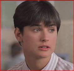 Demi Moore's pixie haircut set a fashion trend for many women in the early 90s