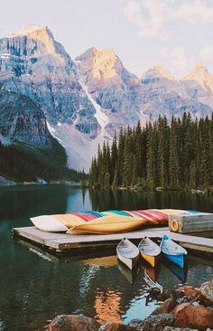 kayaking on Moraine Lake