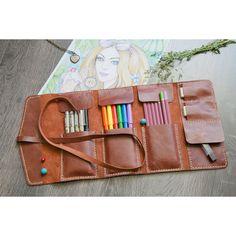 Handmade Leather Pencil Case. Colored Pencil Holder. от VenskShop