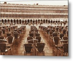 Cafe Florian.Venice Metal Print by Marina Usmanskaya. All metal prints are professionally printed, packaged, and shipped within 3 - 4 business days and delivered ready-to-hang on your wall. Choose from multiple sizes and mounting options.#MarinaUsmanskayaFineArtPhotography, Venice, San Marco,Art Prints,Art for home, Fine Art Prints