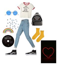 """""""Untitled #69"""" by hippiessunflower on Polyvore featuring Vans, Fendi, Topshop, Illesteva and Georgia Perry"""