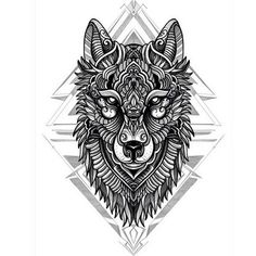Image de art, wolf, and beautiful