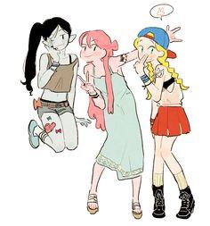 Marceline & Bubblegum & Fiona