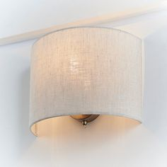 Buy John Lewis & Partners Samantha Uplighter Linen Wall Light from our Wall Lighting range at John Lewis & Partners. Hallway Wall Lights, Interior Wall Lights, Indoor Wall Lights, Bedroom Wall Lights, Interior Lighting, Garden Room Lighting, Lounge Lighting, Cottage Lighting, Sconces Living Room