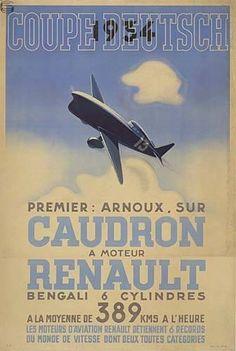 Coupe Deutsch Caudron A Moteur Renault 34 - 1st
