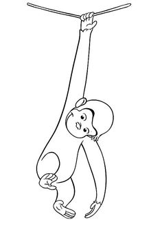 Curious George Coloring Pages Printable - Free Coloring Sheets Swear Word Coloring Book, Quote Coloring Pages, Coloring Pages Inspirational, Coloring Pages For Boys, Cartoon Coloring Pages, Coloring Books, Curious George Party, Curious George Birthday, Free Coloring Sheets