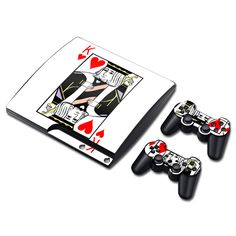 Porker King Skin Sticker For Sony PS3 Slim Console For Playstation 3 Controller Decal #Affiliate