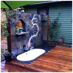 Wunderbar Outdoor Shower / Inset Bathtub U0026 Deck