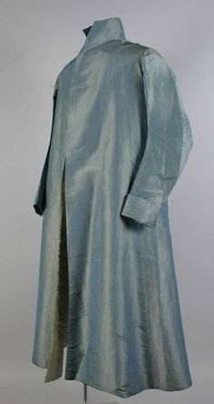 Gentleman's blue/green long iridescent silk robe, 1805-1815 - Museum Rotterdam