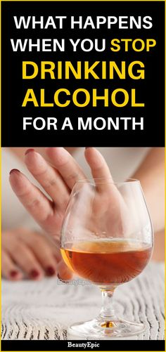 You should know what exactly happens when you stop drinking alcohol for a month. Knowing the good results of stopping alcohol consumption might help a Quit Drinking Alcohol, Quitting Alcohol, Alcohol Detox, Giving Up Alcohol, Best Alcohol, Alcohol Free, Detox Before And After, Before And After Weightloss, Giving Up Drinking