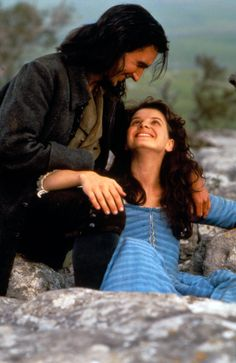 """Ralph Fiennes with Juliette Binoche in """"Wuthering Heights"""" as Heathcliffe and Catherine"""
