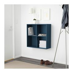EKET Skåp med 4 fack - mörkblå - IKEA