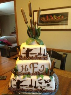 Duck Hunting Groom's Cake | What kind of cake would an avid duck hunter want for his special day …