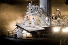 The Passenger, ENO Coliseum 2014.Dir: David Pountney, Set: Johan Engels, LD: Fabrice Kebour