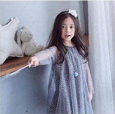 Chica vestidos de tul 2016 otoño corea del bebé vestidos de niña elegante lindo kids party dress fashion princess ropa 2-6y(China (Mainland))