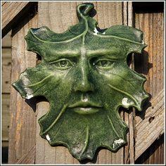 Green Man as leaf