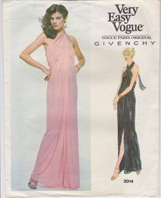 Very Easy Vogue Pattern Givenchy Evening Gown by SissysPatterns, $10.00