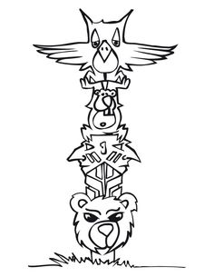 Totem Pole Coloring Page Printable | Waiting to be a Grandma ...
