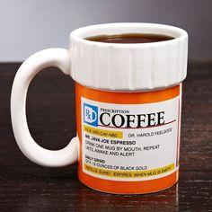 The Right Medicine Ceramic Coffee Cup - $15