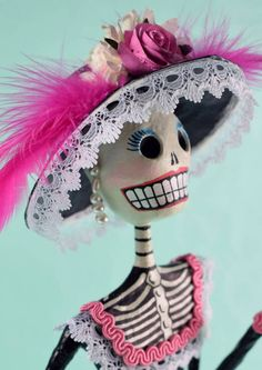Catrina Day of the Dead Hand made paper mache figure