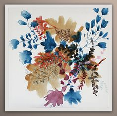 Flores de flores pintura Original pintura pintura de flores