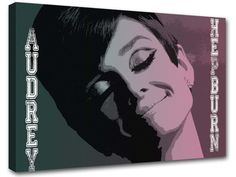 Audrey Hepburn 50 years painting adoc2 modern art by MagnifiKo