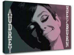 Audrey Hepburn 50 years painting adoc2 modern art by MagnifiKo