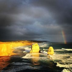 2 of the #12apostles and a bonus #rainbow #greatoceanroad by luccilu http://ift.tt/1ijk11S