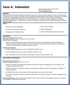 quality engineer resume template - Engineering Resume Templates Word
