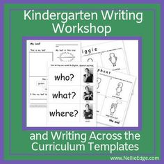 Learn more! TOOLS for Writing Workshop in Kindergarten! All the tools you need for writing workshop & authentic writing across the curriculum! A comprehensive, full-year collection: Over 180 pages of PROVEN resources to grow proficient writers! Guided Reading Lessons, Writing Lessons, Kindergarten Writing, Kindergarten Curriculum, Curriculum Template, Writing Words, Opinion Writing, Writing Folders, Reading Recovery