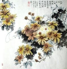 Chinese Chrysanthemum Paintings, Chinese Chrysanthemum Wall ...
