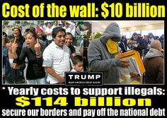 $10 BILLION pales in comparison to $114 BILLION PER YEAR for ILLEGALS!!  Definition of illegal - someone entered the United States UNLAWFULLY, in case you libturds can't grasp the concept.