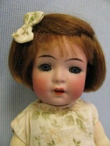 """8 ½"""" Antique Character Doll K Star R 126 Simon Halbig Toddler Pudgy Tummy"""