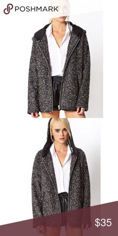 Forever 21 Boucle Jacket in Charcoal Brand New! Regular price is $55 Forever 21 Jackets & Coats