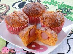 Muffins de salchicha y queso