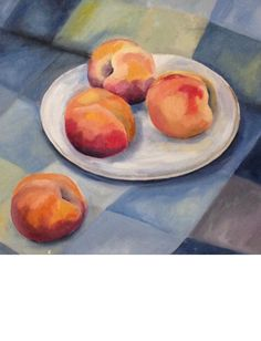Peaches - oil on canvas by Marcia Cocco