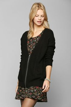 Silence + Noise Zip-Up Cardigan - Urban Outfitters