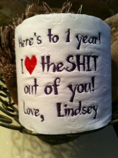Paper Anniversary Custom Gift Personalized Embroidery F.- Paper Anniversary Custom Gift Personalized Embroidery Fast Shipping Funny Last Minute Anniversary Gift, I Love the Shit Gag Gift - Gifts For Boyfriend Long Distance, Diy Gifts For Boyfriend, Meaningful Gifts For Boyfriend, Surprise Boyfriend, Boyfriend Ideas, 1 Year Anniversary Gifts, Boyfriend Anniversary Gifts, 1st Wedding Anniversary Gift For Him, Anniversary Funny
