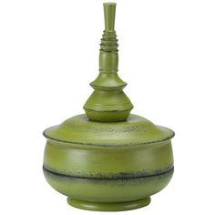 Bombay® Outdoors Balinese Tabletop Decor ($42) ❤ liked on Polyvore featuring home, outdoors, outdoor decor, green, resin planters, outside planters, outdoor garden decor and green planters