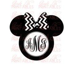 Disney+Iron+On+Transfer+Custom+Monogram+by+BrightLifePrintables,+$4.50