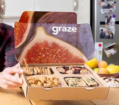 a graze snack showing ratings buttons Graze Box, Healthy Snacks, Healthy Recipes, Snack Box, Our Body, Maine, Healthy Living, Health Fitness, Gypsy