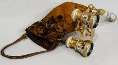 Late 19th Century Imperial Russia Opera Glasses And Bag